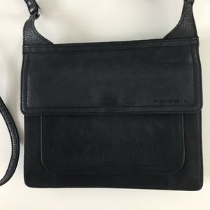 Fossil Bags - Fossil Small Black Leather Crossbody Hand Bag